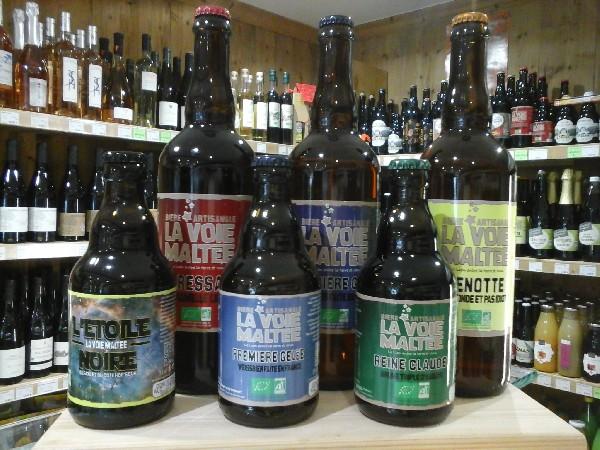 grand choix de bières locales et artisanales